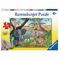 60pc Safari Animals Puzzle