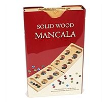 Wood Mancala Folding Board in Tin Case