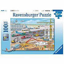 100pc Construction at the Airport Puzzle