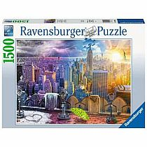 1500pc Summer/Winter New York City Skyline Puzzle