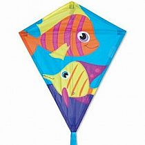 "25"" Tropical Fish Diamond Kite"