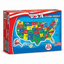 51 pc USA Map Floor Puzzle